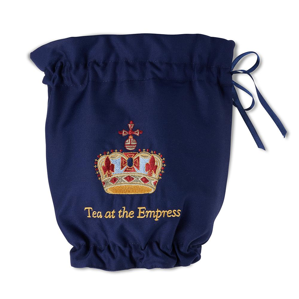 Empress Royal Pattern Teapot Cozy - Navy