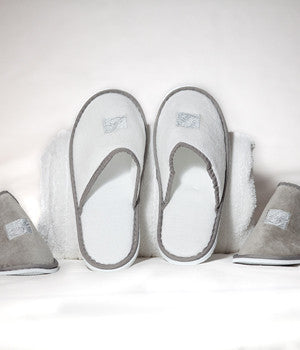 White or Platinum Slippers