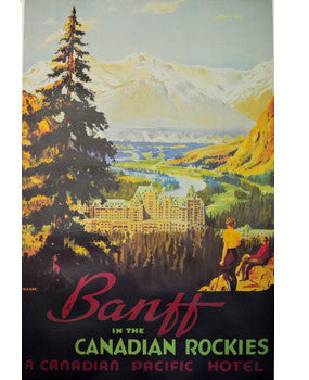 Poster - Banff in the Canadian Rockies