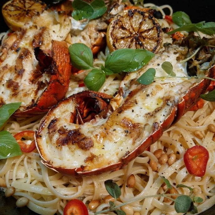 California Spiny Lobster Lemon Garlic Linguine