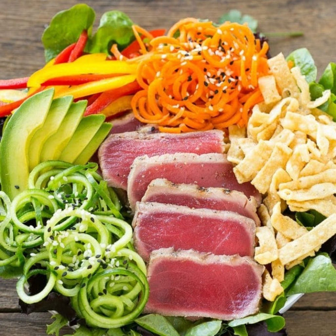 Seared Ahi Tuna Salad with Sesame-Ginger Dressing