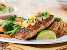 Load image into Gallery viewer, Blackened Mahi Mahi Fillet with Mango Salsa
