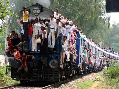Congested Train in India