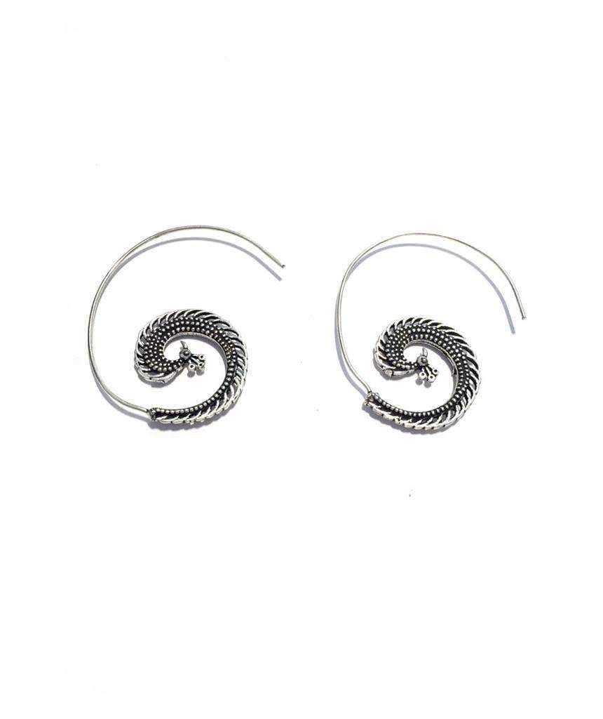 Peacock Swirl Earrings