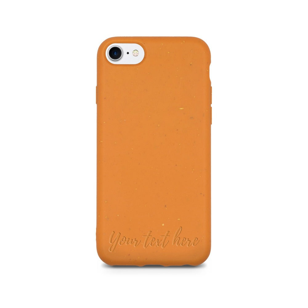 Biodegradable Personalized Phone Case - Orange