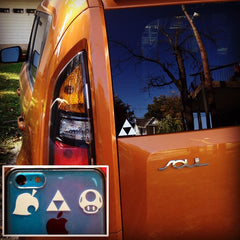 Smash Icons & Triforce Vinyl Sticker Decals