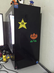 8-Bit Multi-Color Mario Vinyl Sticker Decals