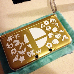 Super Smash Bros 3DS XL Vinyl Sticker Decal