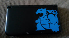 Blastoise 3DS XL Vinyl Sticker Decal