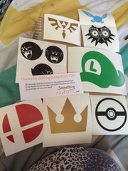 Set of Nerdy & Gaming Vinyl Sticker Decals