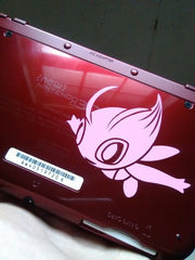 Celebi Vinyl Sticker Decal on NEW 3dsXL