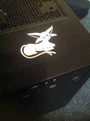 Espeon Vinyl Sticker Decal on PC case