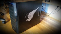 Final Fantasy 7 meteor on a PC case Vinyl Sticker Decal