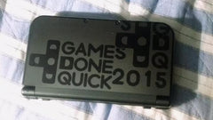 GDQ 3DS XL Vinyl Sticker Decal