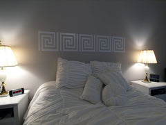 Greek Key Vinyl Decal Headboard