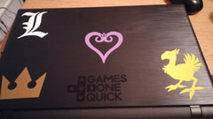 Chocobo Deathnote Kingdom Hearts and GDQ logo Vinyl Sticker Decal