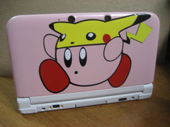 Kirby with Pikachu hat on 3DS XL