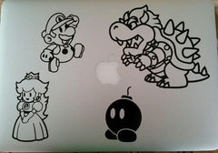 Paper Mario Vinyl Sticker Decal on macbook