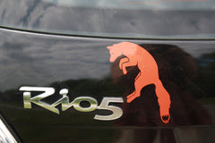 Orange Pouncing Fox Car Decal