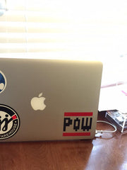 Multi-Color POW Block Vinyl Sticker Decal