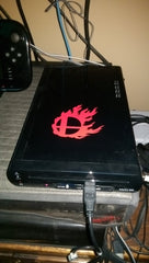 Burning Smashball Vinyl Sticker Decal on Wii U