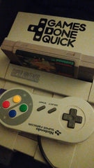 Snes with GDQ logo Vinyl Sticker Decal
