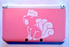 White Vulpix Pokemon Vinyl Sticker Decal on 3DS XL