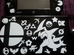 Super Smash Bros. Icon Set & Garchomp Vinyl Sticker Decals