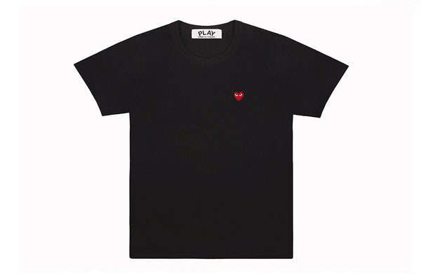 CDG PLAY Woman Play Little Red Heart T-Shirt (Black)