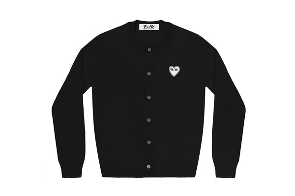 CDG PLAY Woman Cardigan White Heart