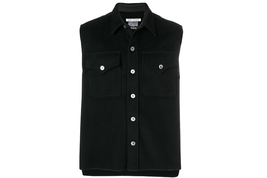 SLEEVELESS XPLORE SHIRT  CASH WOOL BLACK