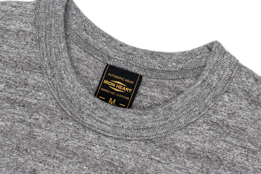 Plain 6.5oz Loopwheel T-Shirts Grey