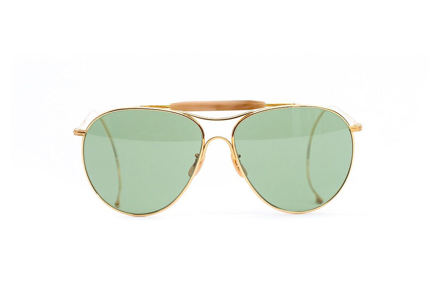 The Real McCoy's Aviator Flying Sunglasses GOLD
