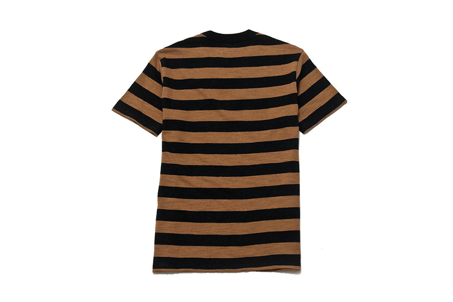 The Real McCoy's  buco stripe tee brown