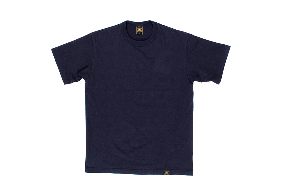 Plain 6.5oz Loopwheel T-Shirts Navy