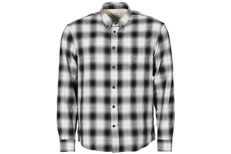Camisa Sarkis Shadow Check Blanco