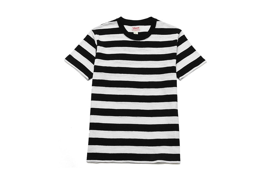 The Real McCoy's  buco stripe tee white