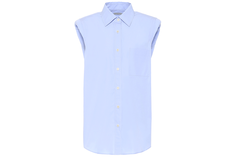 Casulo Sleeveless cotton shirt sky