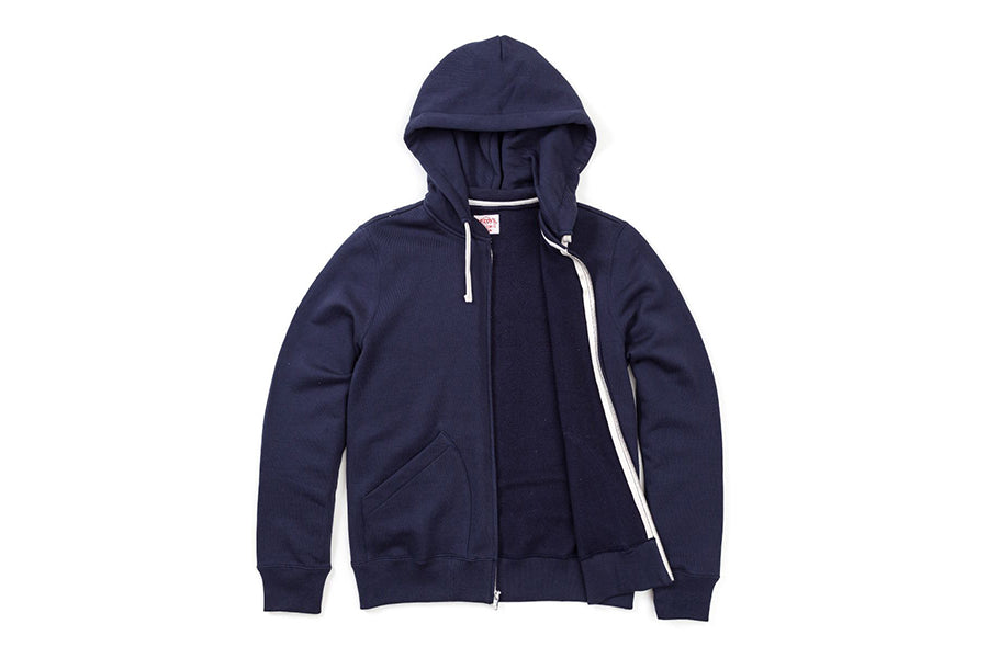 The Real McCoy's JOE MCCOY 10oz Sweat Parka Navy