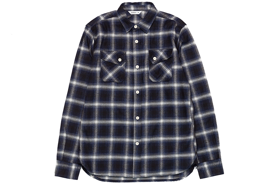 Camisa Crosscut Navy Ombre Flannel
