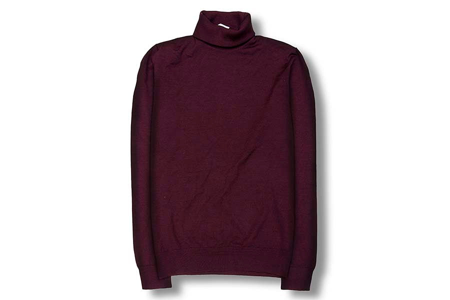 Luciano Barbera 180s Turtleneck Burgundy