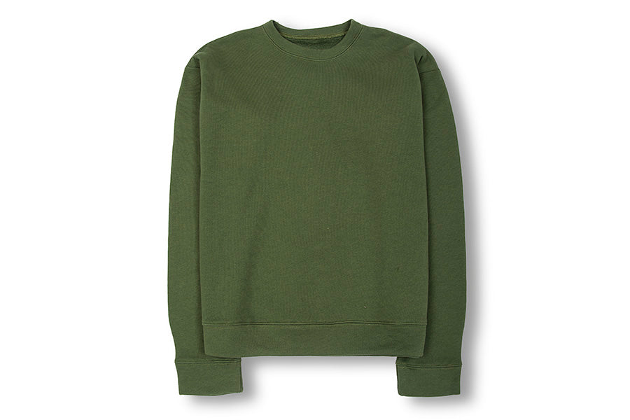 The Elder Statesman Cotton Fleece Sweatshirt Olive