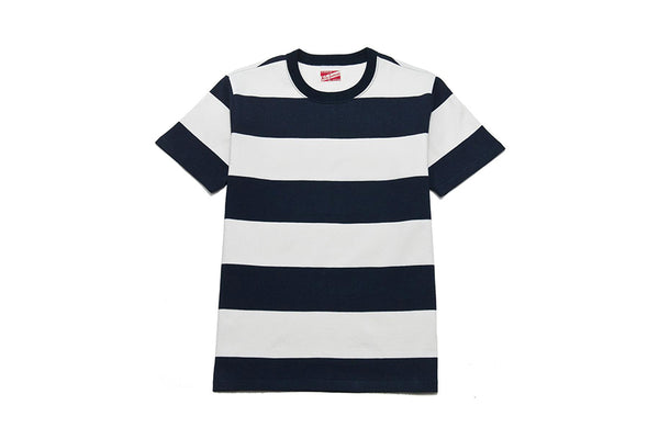 The Real McCoy's 1950's Striped Tee Navy