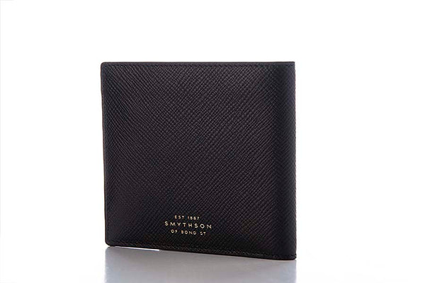 Smythson Burlington 6 Card Wallet Black