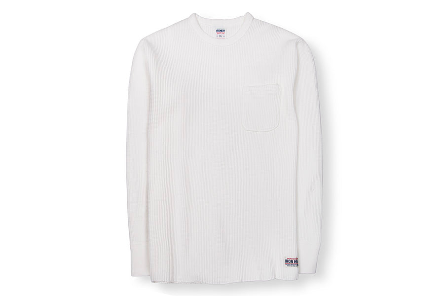 LS Thermal Crew Neck with Chest Pocket White