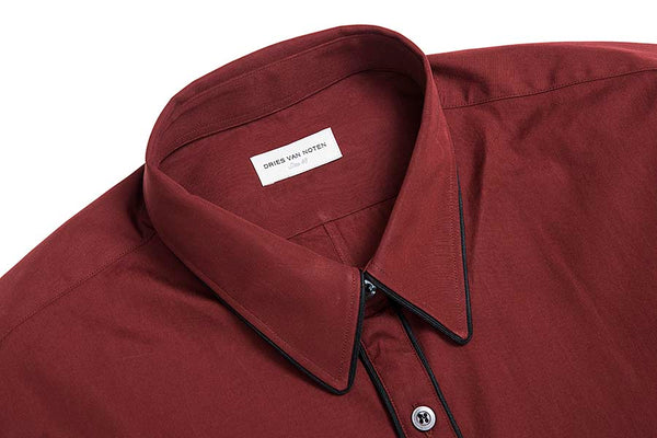 Dries Van Noten Corbin Burgundy Shirt