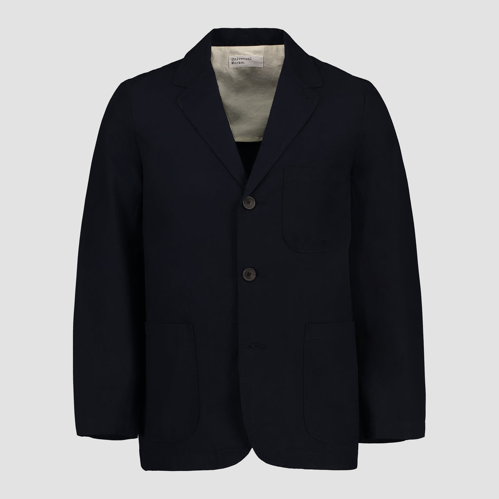 Universal Works Three Button Jacket Ripstop Cotton Navy