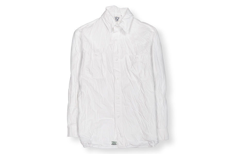 WORK SHIRT WHITE CHAMBRAY WHITE