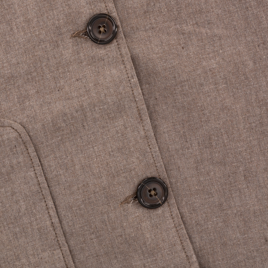 Universal Works Three Button Jacket Washed Suiting Sand