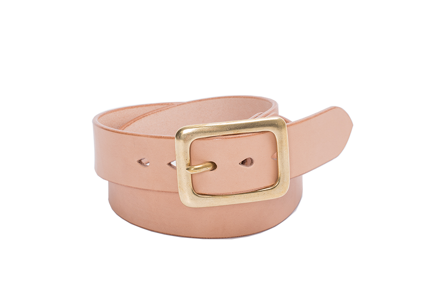 "Heavy Duty ""Tochigi"" Leather Belt Tan"
